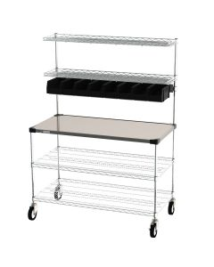 Metro CR2448DSS Delivery-Staging And Drive-Thru Wire Shelving Workstation 24X48