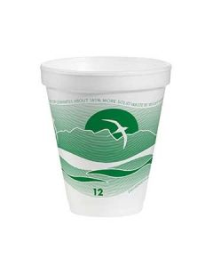Dart 12J16H Horizon 12 oz Forest J-Style Printed Foam Cups