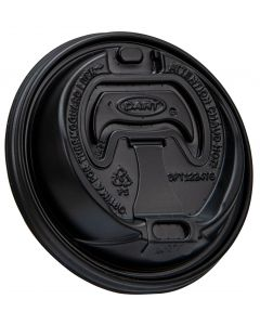 Dart OPT1224TGB Optima Black Lid for ThermoGuard Paper Cups