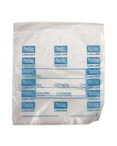 "DayMark 112378 DayBag 6.5""x7"" Monday Portion Bags- 2000/Box"
