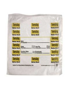 "DayMark 112379 DayBag 6.5""x7"" Tuesday Portion Bags- 2000/Box"