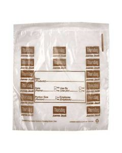"DayMark 112381 DayBag 6.5""x7"" Thursday Portion Bags- 2000/Box"