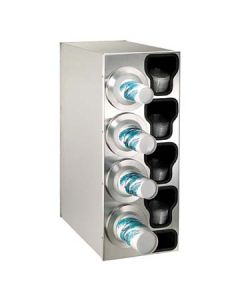 Dispense-Rite BFL-C-4LSS 4-Cup S/S Countertop Cup & Lid Dispenser