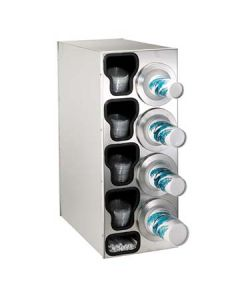 Dispense-Rite BFL-C-4RSS 4-Cup S/S Countertop Cup & Lid Dispenser