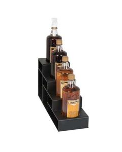 Dispense-Rite CTBH-4BT 4 Section Black Countertop Bottle Holder