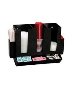 Dispense-Rite HLCO-3BT Cup, Lid, Straw and Condiment Organizer