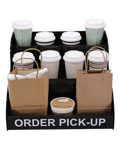 Dispense-Rite MOPU-3B 3-Tiered Countertop Order Pick-Up Display Stand