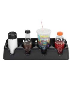 Dispense-Rite PCH-4B 4-Compartment Surface-Mounted Beverage Organizer