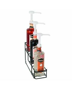 Dispense-Rite WR-BOTL-3 3 Section Wire Bottle Organizer