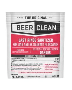 Diversey 90223 Beer Clean Last Rinse Sanitizer - 100 x 1/4oz packets