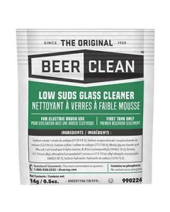 Diversey 990224 Beer Clean Glass Cleaner - 100 x 1/2oz packets