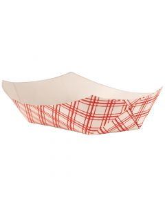 Empress Products EFT100 Red Plaid 1lb Capacity Food Tray