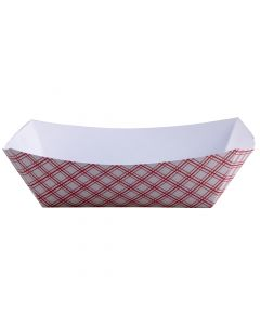 Empress Products EFT1000 Red Plaid 10lb Capacity Food Tray