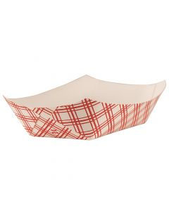 Empress Products EFT200 Red Plaid 2lb Capacity Food Tray