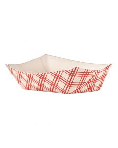 Empress Products EFT300 Red Plaid 3lb Capacity Food Tray