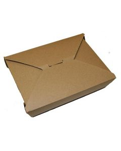 "FC Meyer MPK2K MeyerPak Kraft Takeout Boxes - 7-3/4"" x 5-1/2"" x 1-7/8"""