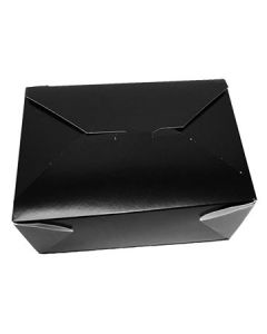 "FC Meyer MPK4B MeyerPak Black Takeout Boxes - 7-3/4"" x 5-1/2"" x 3-1/2"""