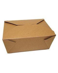 "FC Meyer MPK4K MeyerPak Kraft Takeout Boxes - 7-3/4"" x 5-1/2"" x 3-1/2"""