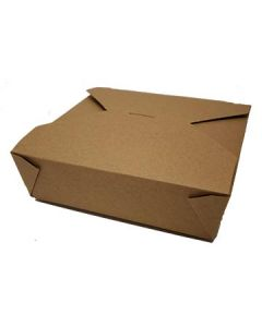 "FC Meyer MPK5K MeyerPak Kraft Takeout Boxes - 8-1/2"" x 8-1/2"" x 2-1/2"""