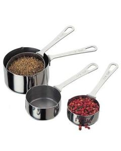 Focus 527 4 Piece Stainless Steel Measuring Cup Set