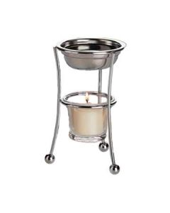 Focus 594 Stainless Steel Butter Warmer with Chrome Stand