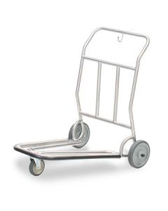 Forbes 1574-SS Brushed Stainless Steel Luggage Cart
