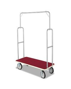 Forbes 2495 Brushed Stainless Steel Standard Luggage Cart