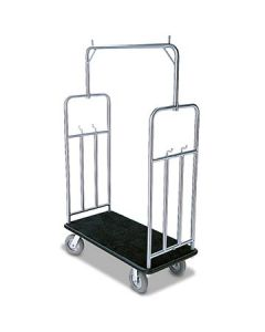 Forbes 2499 Forbes Brushed S/S Standard Luggage Cart with Jumbo Bumper