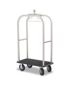 Forbes 2511-SS Brushed Stainless Steel Deluxe Luggage Cart