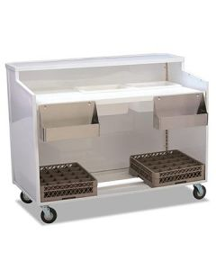 Forbes 4863-5-W Luxe Mobile Bar w/ White Panels & Countertop