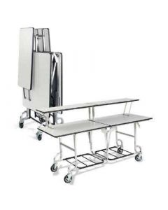 Forbes 4946 6-ft Folding Catering Table with 2-Tier Top