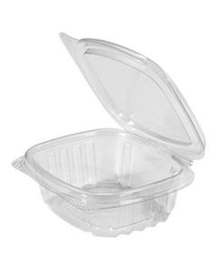 Genpak AD04 4 oz Clear Hinged-Lid To-Go Container (Currently out of Stock)