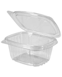 Genpak AD06 6 oz Clear Hinged-Lid To-Go Container --OUT OF STOCK