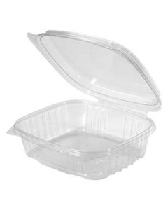 Genpak AD24F 24 oz Clear High Dome Hinged-Lid To-Go Container (Currently out of Stock)