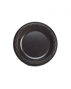 """Genpak LAM07---3L Elite 7"""" Black Laminated Foam Plates--CURRENTLY OUT OF STOCK"""