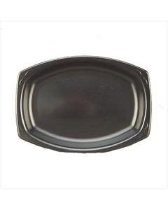 """Genpak LAM79---3L Elite 7"""" x 9"""" Black Laminated Foam Platters--CURRENTLY OUT OF STOCK"""