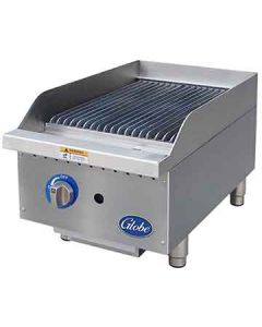 "Globe GCB15G-CR 15"" Gas Charbroiler - Cast Iron Radiants"