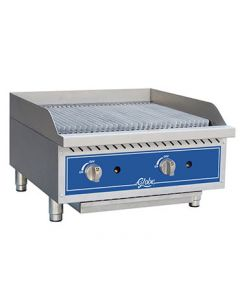 "Globe GCB24G-CR 24"" Gas Charbroiler - Cast Iron Radiants"
