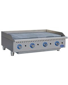 "Globe GCB48G-SR 48"" Gas Charbroiler - Stainless Steel Radiants"