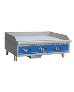 "Globe GG36G 36"" Countertop Gas Griddle - Manual Controls"