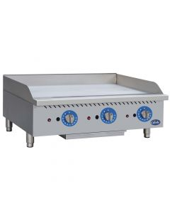 """Globe GG36TG 36"""" Countertop Gas Griddle - Thermostatic Controls"""