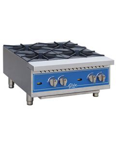 "Globe GHP24G Gas Countertop Hot Plate - 24"", 4 Burners"