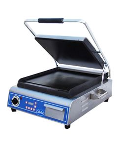 """Globe GSG14D 14"""" x 14"""" Deluxe Smooth Panini Grill"""