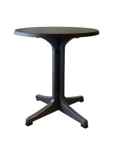 "Grosfillex US284744 Omega 28"" Round Dark Concrete Patio Table"