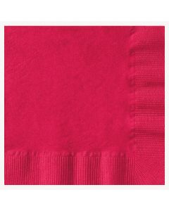 Hoffmaster 020201 Red Beverage Cocktail Napkin - 3 Ply