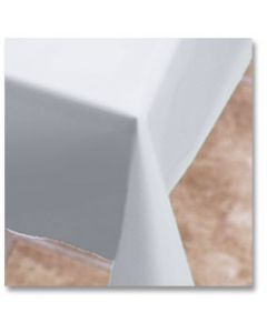 """Hoffmaster 112000 54"""" x 108"""" White Plastic Table Cover"""