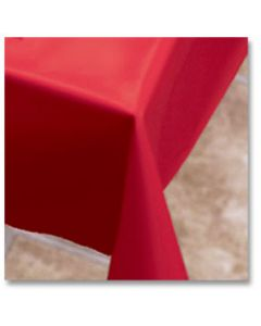 """Hoffmaster 112001 54"""" x 108"""" Red Plastic Table Cover"""