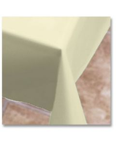 """Hoffmaster 112002 54"""" x 108"""" Ivory Plastic Table Cover"""