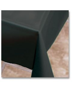 """Hoffmaster 112003 54"""" x 108"""" Black Plastic Table Cover"""