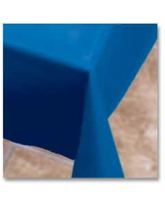 """Hoffmaster 112004 54"""" x 108"""" Blue Plastic Table Cover"""